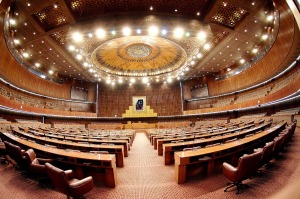 The Parliament of Pakistan, officially termed the Majlis-e-Shoora (Urdu: مجلسِ شورىٰ‎ — Majlis-e Šūrá); is the federal and supreme legislative body of Pakistan.